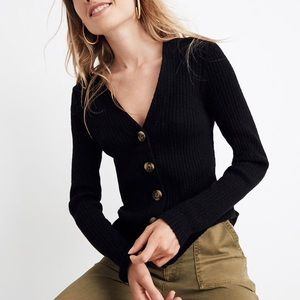 Madewell Shrunken Ribbed Cardigan Sweater